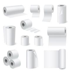 Bathroom scroll paper realistic set vector