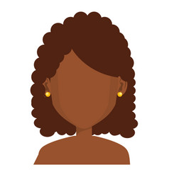 Black young woman shirtless avatar character vector