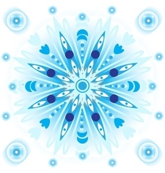 Blue mandala vector