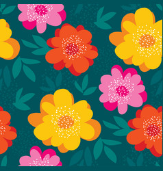 Bright abstract flower seamless pattern vector