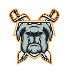 Bulldog mascot logo design sport animal emblem vector