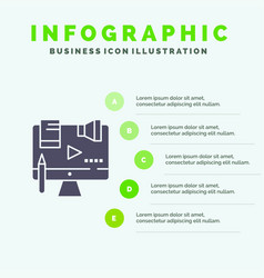 Business content copyright digital law solid icon vector