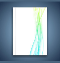 Business fresh abstract modern wave lines folder vector