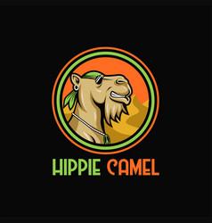 Camel hippie vector