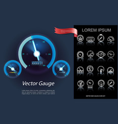 car dashboard elements concept vector image