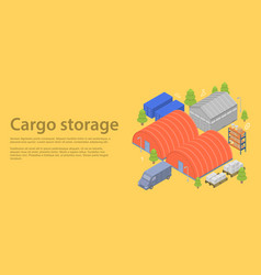 cargo storage concept banner isometric style vector image