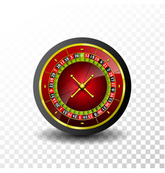Casino with roulette wheel on vector