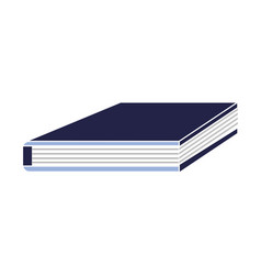 closed education book note information vector image