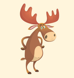 Cool carton moose vector
