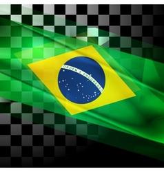 design of Brazilian flag vector image