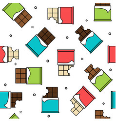 different chocolate types seamless pattern vector image