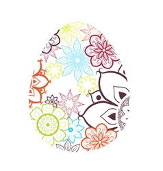 Easter Egg With Flower Pattern vector