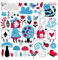 Fairytale elements vector