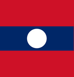 flag of laos official colors and proportions vector image