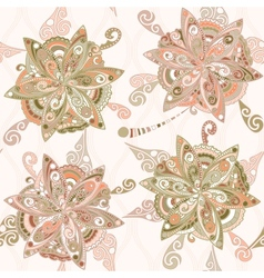 Floral pattern in eastern style vector image