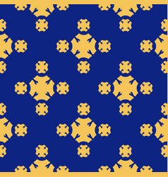 geometric seamless luxury yellow texture pattern vector image