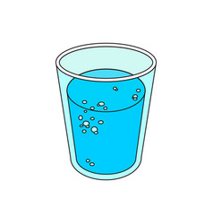 Glass of mineral water vector