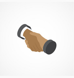 Handshake isometric icon 3d vector