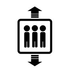 icon lift vector image