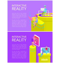 interactive reality set poster vector image