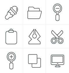 Line Icons Style Graphic design icons vector