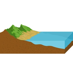 Low tide vector