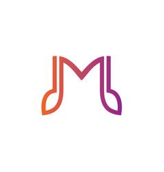 m tone music logo vector image