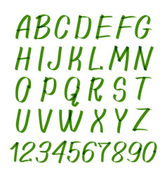 marker hand written symbols letters vector image