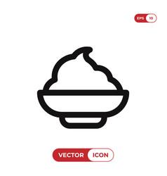 Mashed potato icon vector