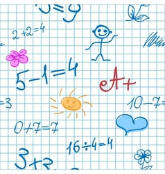 Maths Doodle Note Background vector