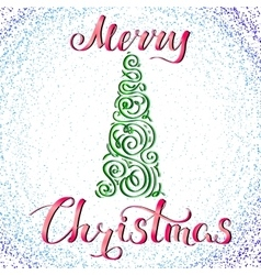 Merry Christmas and Tree 2 vector