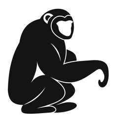 Monkey sitting icon simple style vector