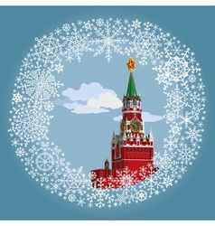 Moscow Kremlin in frameRussia vector