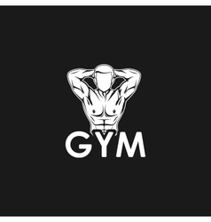 muscled man body silhouette vector image