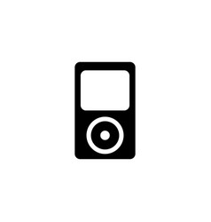 music player icon in flat style for app ui vector image