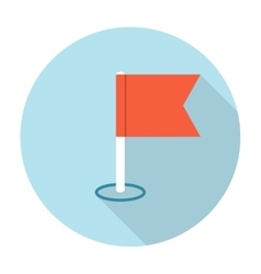 navigation flag icon vector image