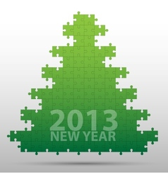 New year tree and decorations background vector image