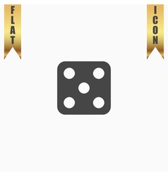 One dices - side with 5 vector