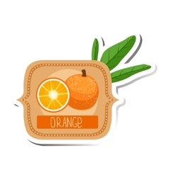 Orange bright color jam label sticker template in vector