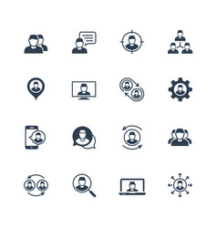 person people personnel staff related icon set vector image