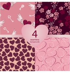 pink seamless backgrounds vector image vector image