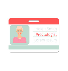 Proctologist medical specialist badge vector
