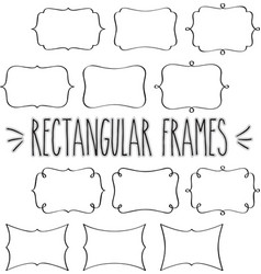 rectangular frames hand drawn outline vector image