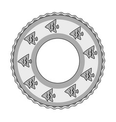 Rescue swimming circlesummer rest single icon in vector