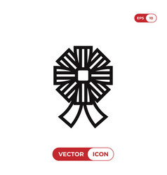 ribbons icon vector image