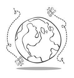 save world from bad environment vector image