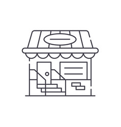 small shop line icon concept small shop vector image