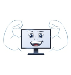 Smiling powerful computer vector image