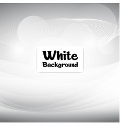 smooth modern white soft background image vector image
