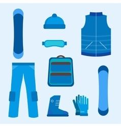 Snowboard infographics elements vector image